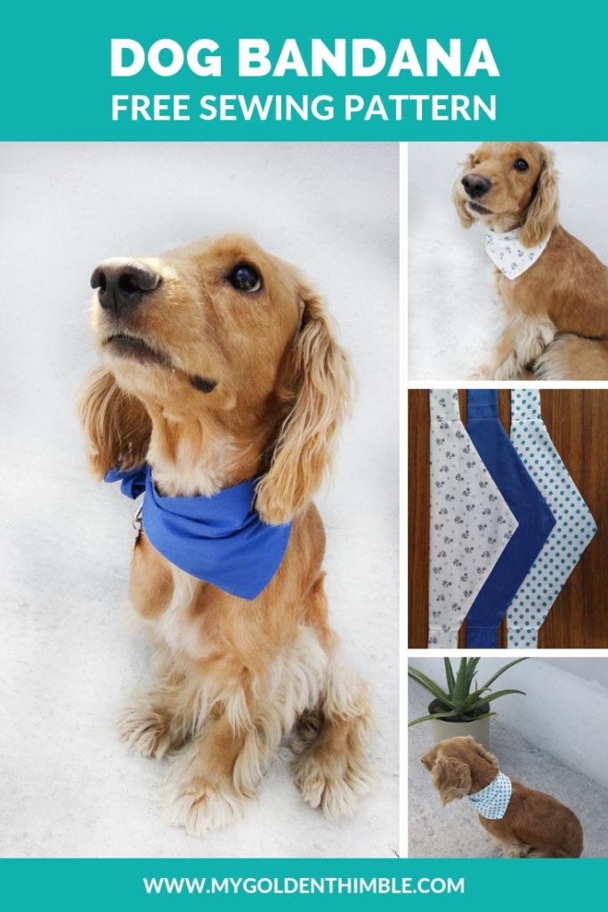 Free Dog Bandana Pattern Diy For All Sizes My Golden Thimble
