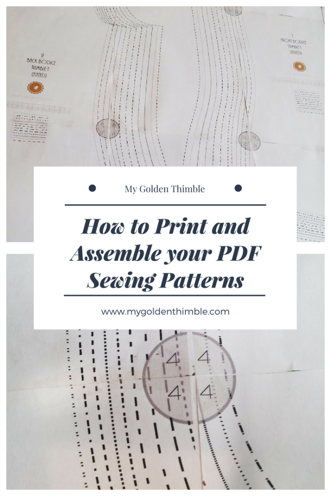 How to Print PDF Sewing Patterns and Assemble them. | My Golden Thimble
