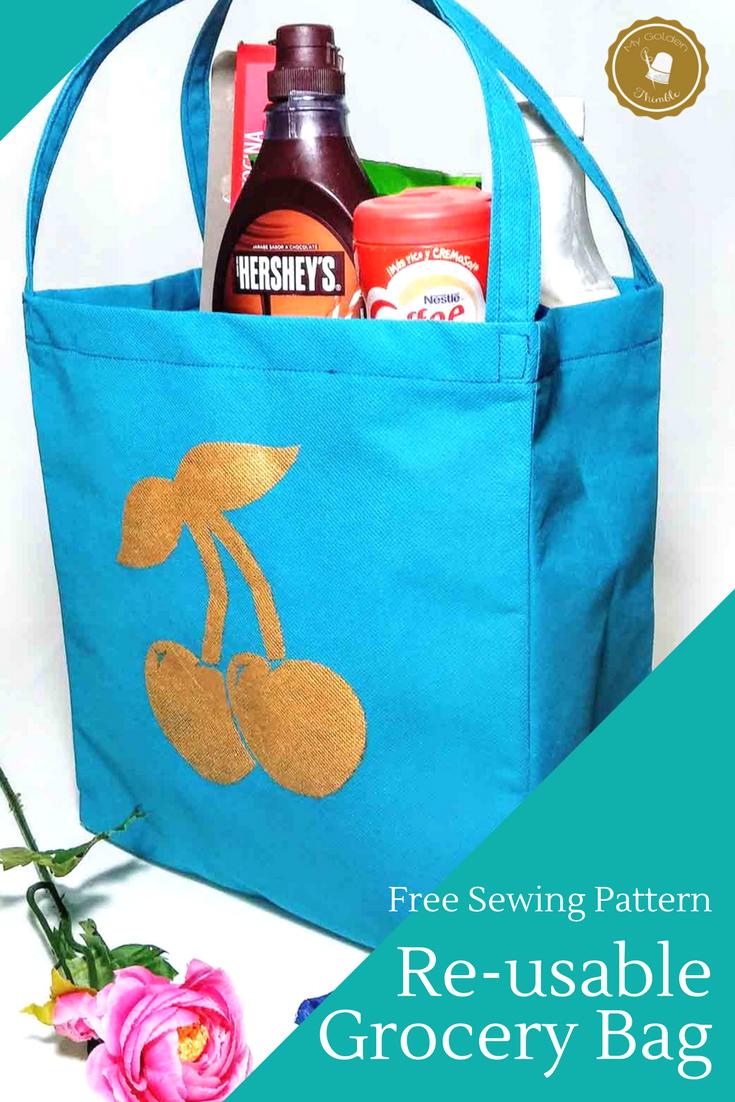 Grocery Bag Diy Tutorial Free Pattern