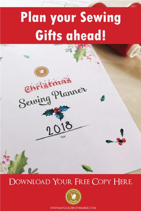 Sew all your Christmas Gifts on time by planning them with this Free Download  sc 1 st  My Golden Thimble & The Ultimate FREE Christmas Sewing Planner | My Golden Thimble