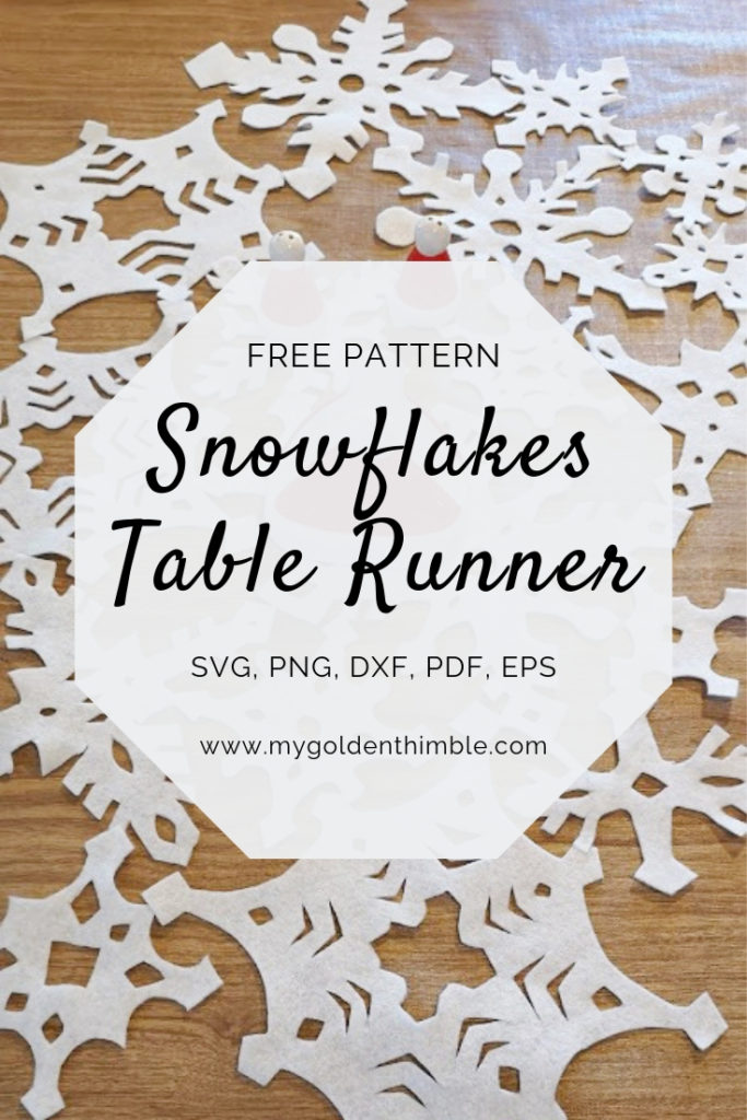 Free No-Sew Snowflakes Christmas Table Runner Pattern. | My Golden ...