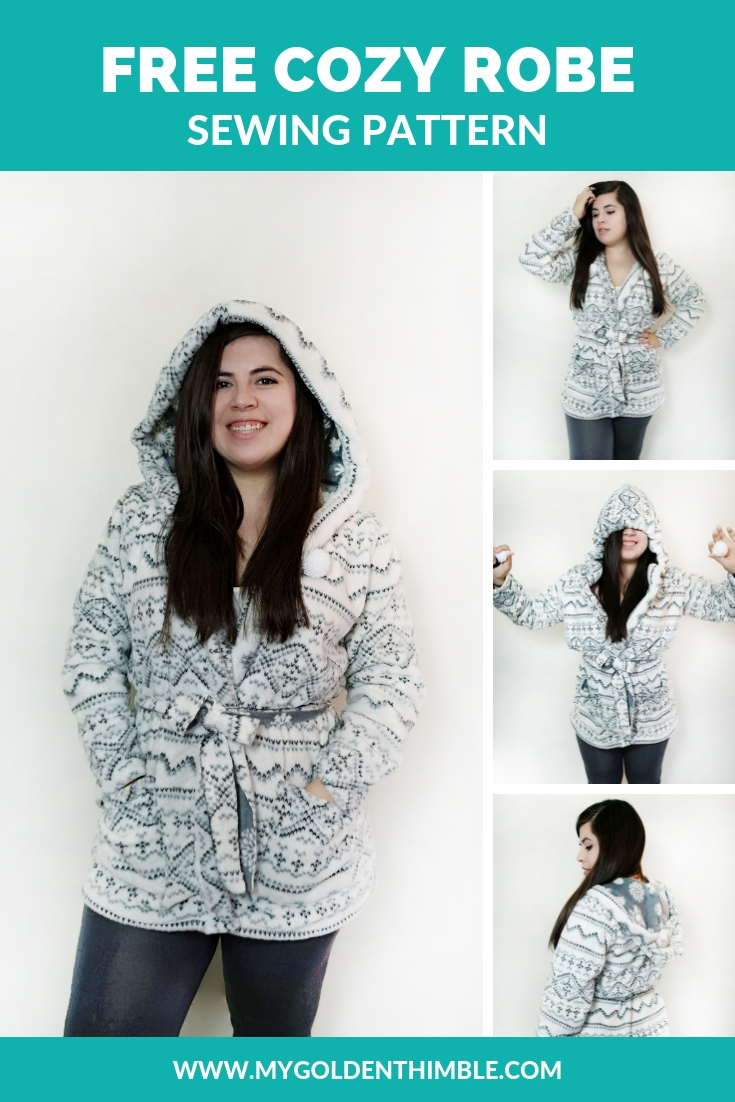 Make Your Own Cozy Hooded Robe Sewing Pattern Free Pattern And Tutorial My Golden Thimble