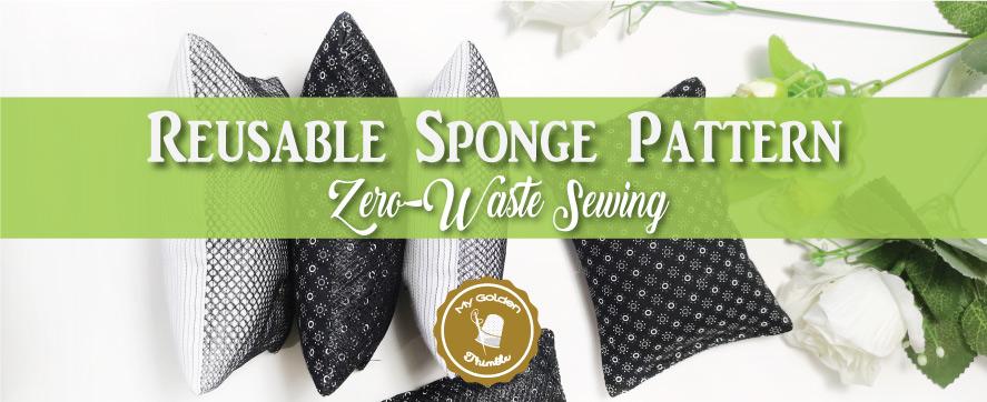 Washable sponge zero waste